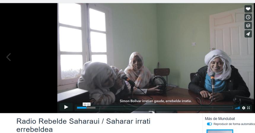 Mundubat: ¡Hoy es el #DíaMundialDeLaRadio! Conoce #RadioRebelde, la radio que han creado jóvenes saharauis en los campamentos de Tinduf ✌️