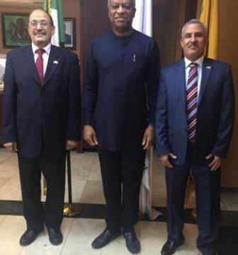 El Ministro de Relaciones Exteriores de Nigeria recibe a Embajador saliente de la RASD | Sahara Press Service