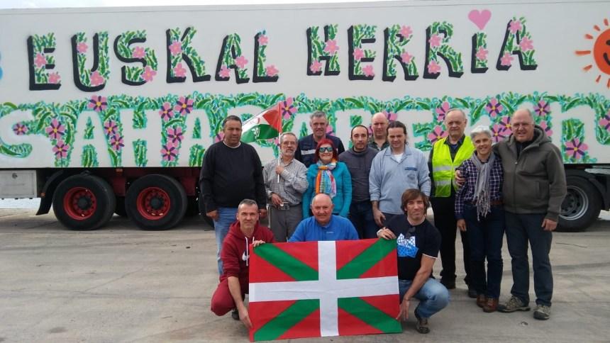 Caravana vasca ayuda Sahara Occidental: Llegaron los camiones a Alicante