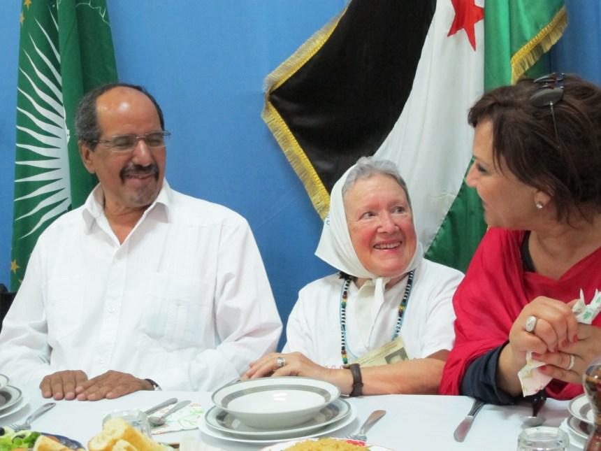 Nora Cortiñas, referente de Madres de Plaza de Mayo, expresa su máxima solidaridad y apoyo al pueblo saharaui | Sahara Press Service (ver fotos)