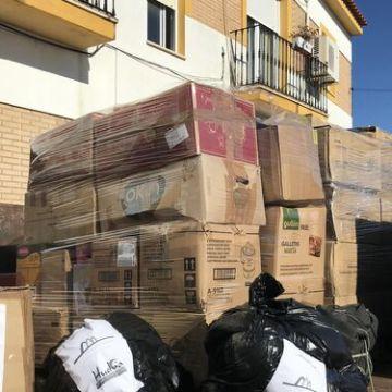 Ayamonte entrega 3.600 kilos de alimentos para los refugiados saharauis