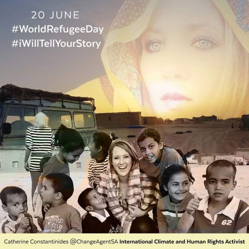 Catherine Constantinides se vuelca con los refugiados saharauis