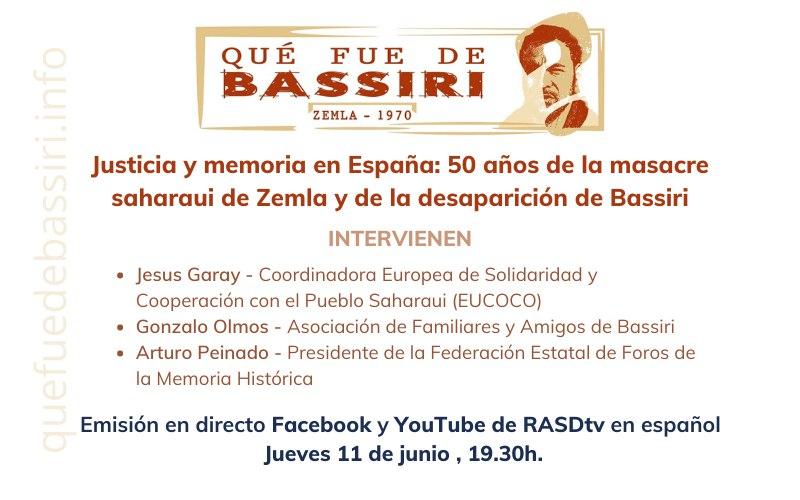 Lanzan campaña «Qué fue de Bassiri», líder saharaui desaparecido hace 50 años por Gobierno español – Tercera Información | #quefuedeBassiri