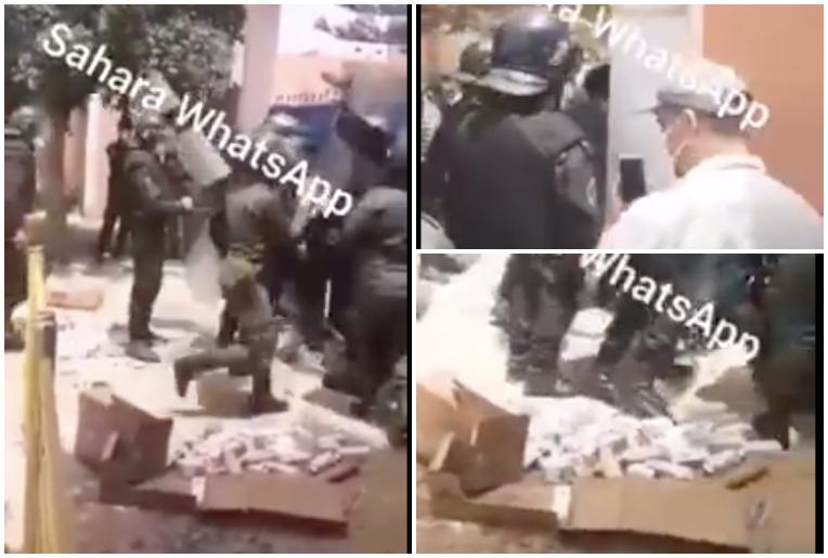 Enfrentamientos entre emigrantes y fuerzas de ocupación marroquíes en El Aaiun | PUSL