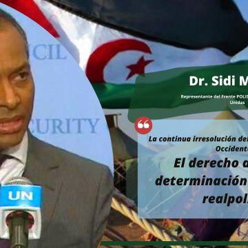 Dr. Sidi Mohamed Omar: «La continua irresolución del conflicto del Sahara Occidental: El derecho a la libre determinación frente a la realpolitik» | Sahara Press Service