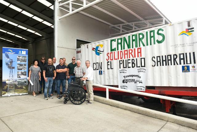 Tribuna de Gran Canaria – El Cabildo envía un contenedor de 10 toneladas a campamentos saharauis