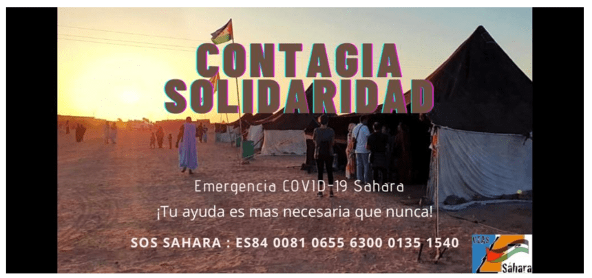 Campaña solidaria de emergencia CONTAGIA SOLIDARIDAD para los campamentos de refugiadxs de Sáhara Occidental 🤝🇪🇭