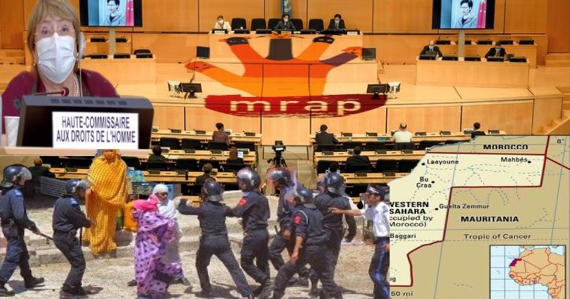 ONG francesa (MRAP) advierte a la ONU de las consecuencias de adoptar las actividades de las instituciones marroquíes que contribuyen al afianzamiento de la ocupación en el Sáhara Occidental.