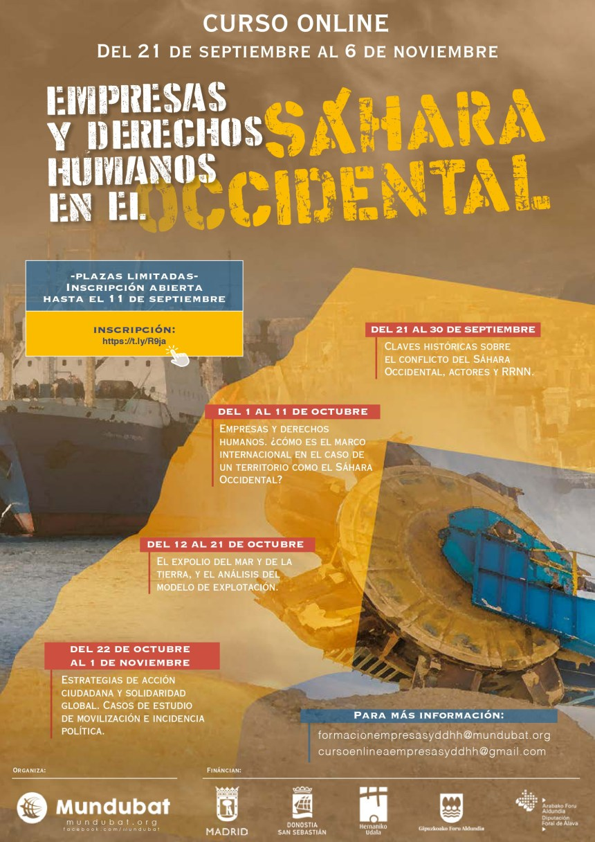Empresas y derechos humanos en el Sáhara Occidental – OMAL | Observatorio de Multinacionales en América Latina