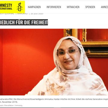 AMINATOU HAIDAR – Pacífica por el futuro y la libertad |Amnesty Journal (en alemán)