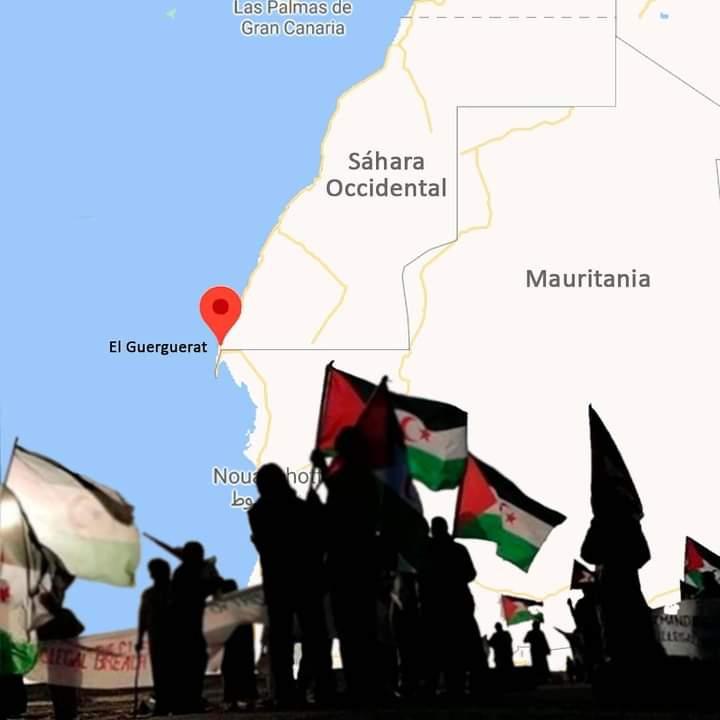 Los saharauis presentes en EL GUERGUERAT recalcan que «continuarán sus protestas» en la zona, hasta su clausura final