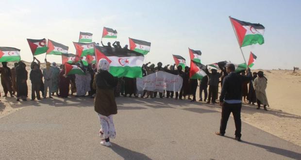 Les Sahraouis continuent de manifester contre les violations marocaines à El Guerguerat | Sahara Press Service