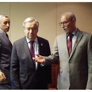 Gali le recuerda a Guterres que el destino de la MINURSO es asegurar la autodeterminación saharaui, no garantizar el paso de mercancías por una brecha ilegal | Sahara Press Service