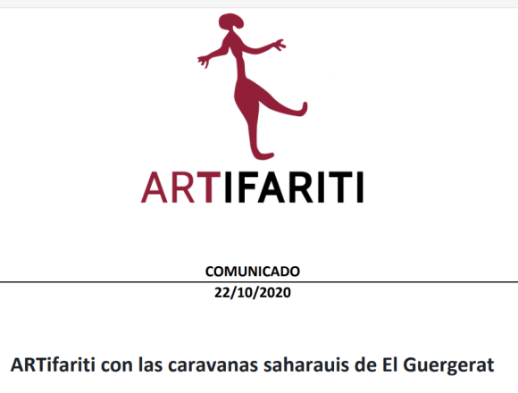 ARTifariti con las caravanas saharauis de El Guergerat