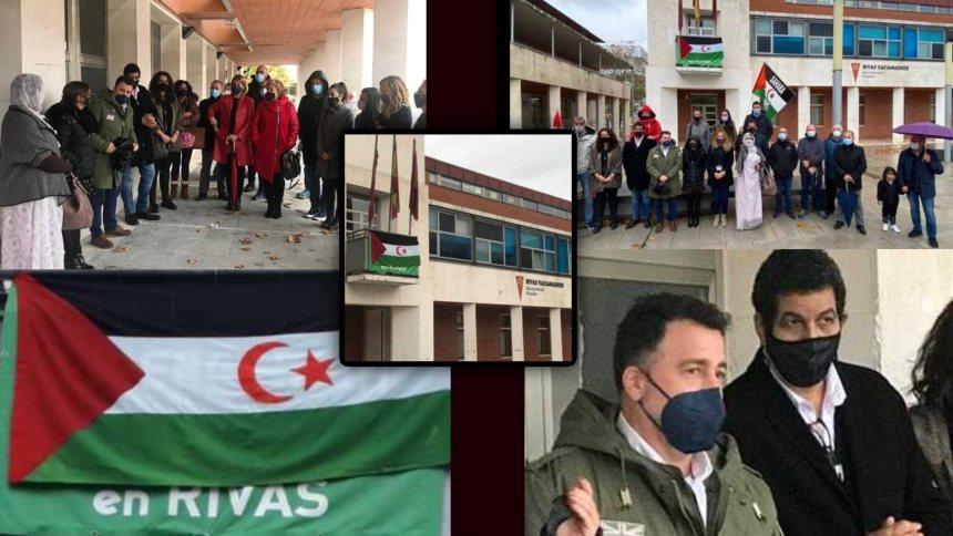El Ayuntamiento de Rivas Vaciamadrid ha expresado su apoyo al pueblo saharaui, colgando su bandera en el balcón del Ayuntamiento 🇪🇭