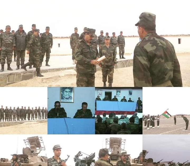 Coordinador general del Estado Mayor del Ejército saharaui supervisa la preparación combativa de sus soldados