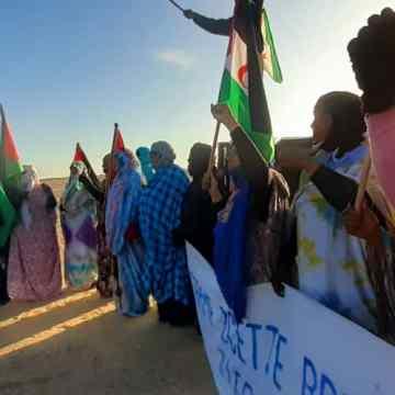 Vigésimo segundo día de protestas en la brecha ilegal de Guerguerat y otras partes del muro de la vergüenza, en el Sáhara Occidental