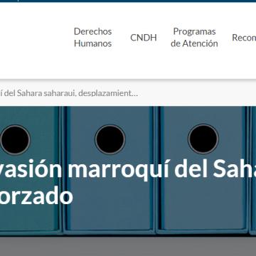 Marcha Verde Invasión marroquí del Sahara saharaui, desplazamiento forzado   Comisión Nacional de los Derechos Humanos – México