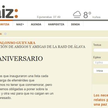 naiz: Iritzia | Opinión – Un aniversario más