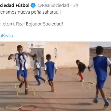 Real Sociedad Fútbol @RealSociedad: ¡Estrenamos nueva peña saharaui! #AurreraReala