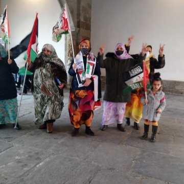 Solidaridad NAVARRA con el pueblo saharaui | Concentración en Sangüesa/Zangoza | Fotos del acto