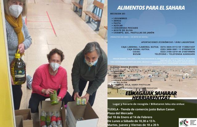 TUDELA (Navarra) – Recogida de alimentos en Balún Canán para los refugiados saharauis
