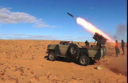 80 días de bombardeos a posiciones enemigas a lo largo del muro militar marroquí   Sahara Press Service