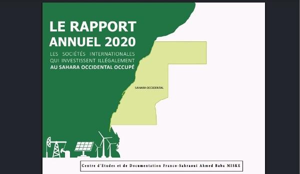 Informe del Centro de Estudios y Documentación Ahmed Baba Miska sobre la participación de empresas internacionales en el saqueo de los recursos naturales del Sahara Occidental