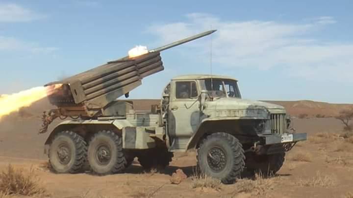 Cien días de bombardeos a posiciones enemigas a lo largo del muro militar marroquí | Sahara Press Service
