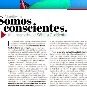 Manifiesto «Somos Conscientes. Informar sobre el Sáhara Occidental» – #SomosConscientesSahara