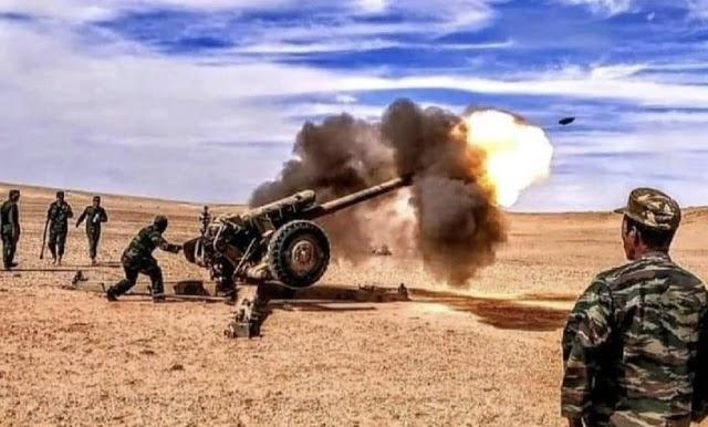 GUERRA EN EL SAHARA   Parte de guerra Nº120