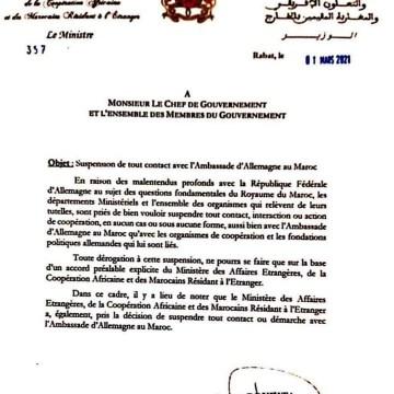 Marruecos suspende los contactos diplomáticos con la embajada de Alemania en Rabat