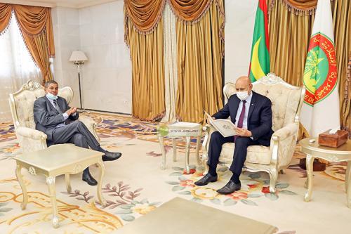 El Presidente de Mauritania recibe a Bachir Mustafá Sayed, enviado especial del presidente saharaui