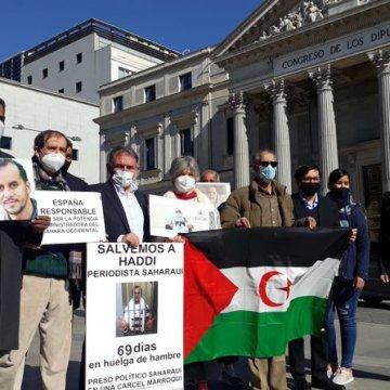 Diputados españoles denuncian en el Congreso la situación del preso político saharaui en huelga de hambre, Mohamed Lamin Haddi
