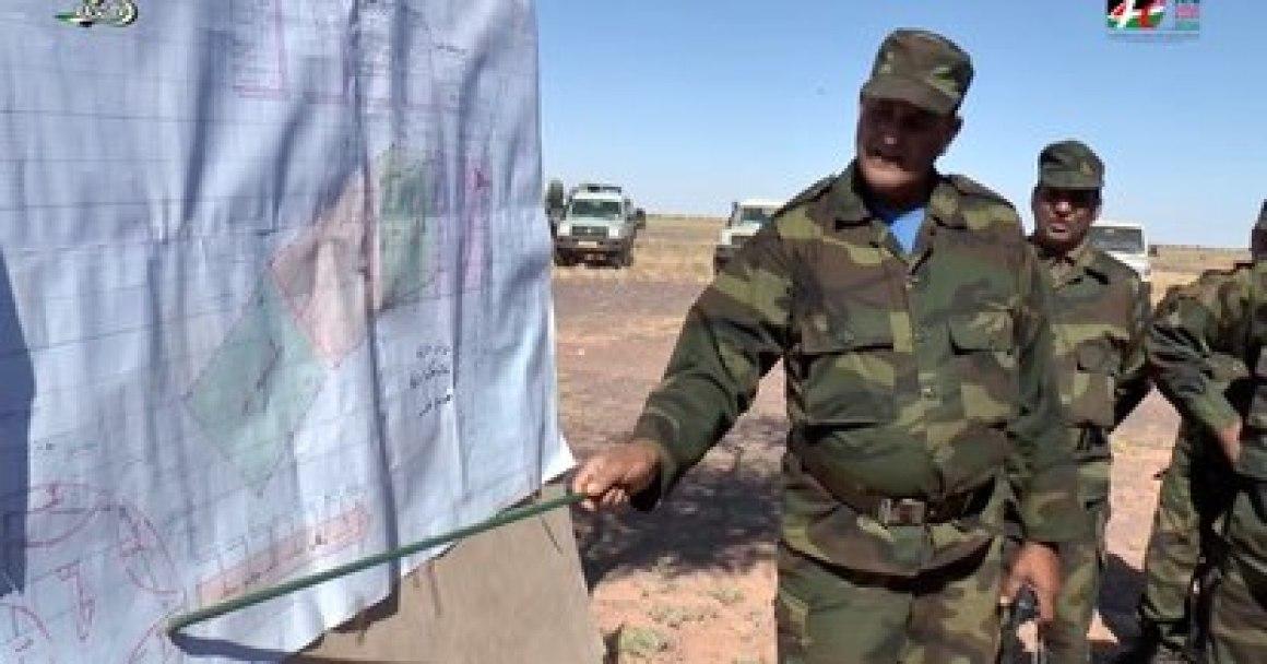 """Adaj el Bendir, el jefe de la Guardia Nacional del Frente Polisario, en la """"zona liberada"""" de Bir Lehlu, en 2016."""