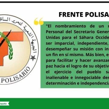 Frente POLISARIO: El Enviado de la ONU para el Sahara Occidental es solo un medio para facilitar y hacer avanzar el proceso de paz hacia el logro de su objetivo final