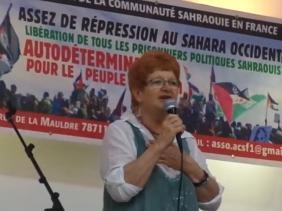 La Presidenta de AFASPA denuncia la apertura de una oficina del partido de Macron en el Sahara Occidental ocupado | Sahara Press Service