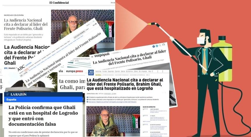 La prensa de España ha 'fabricado' etapas de un proceso judicial contra el presidente saharaui que nunca ha existido
