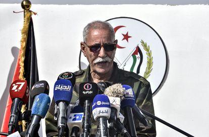 El líder del Frente Polisario llegó a España con pasaporte diplomático a bordo de un avión medicalizado de la Presidencia argelina | EL PAÍS