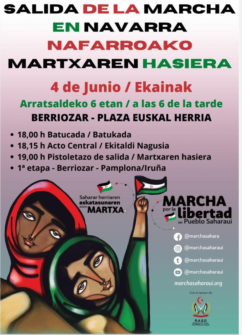 La #MarchaSaharaui en NAVARRA a partir del 4 de junio (CARTELES)