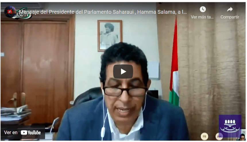 Mensaje del Presidente del Parlamento Saharaui , Hamma Salama, a la XXI conferencia de Intergrupos