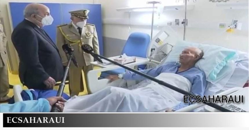 El Presidente de Argelia visita a Brahim Ghali en el Hospital (imágenes)