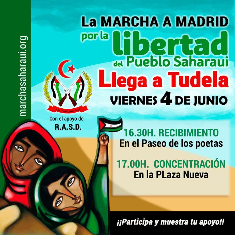 NAVARRA #MarchaSaharaui – Marcha en Tudela por la Libertad del Pueblo Saharaui – PLAZA NUEVA