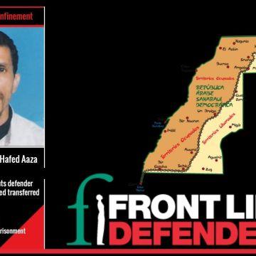 Front Line Defenders denuncia que el preso político saharaui Yahya Mohamed El-Hafed sigue en paradero desconocido | Sahara Press Service