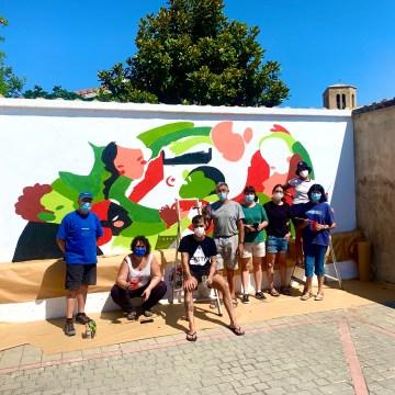 Ayuntamiento de Sangüesa: Mural Puente Solidario en homenaje al Pueblo Saharaui – Navarra digital