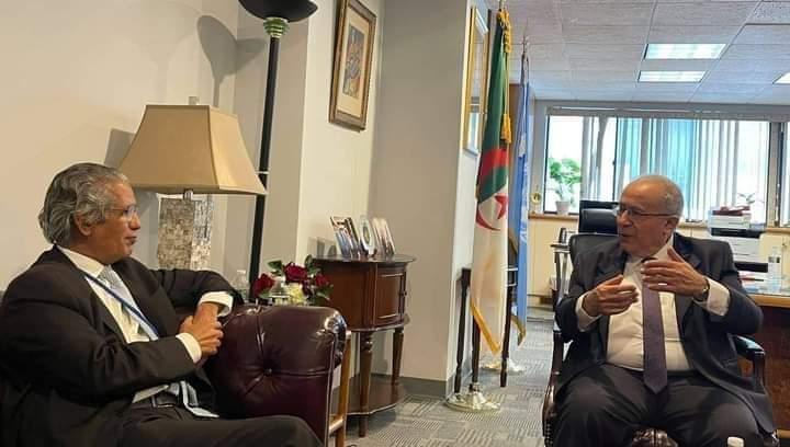 Ministro de Exteriores saharaui se reúne con su homólogo argelino en Nueva York