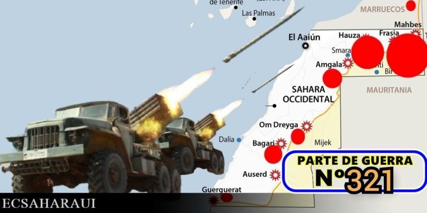 GUERRA EN EL SAHARA   Parte de Guerra Nº 321