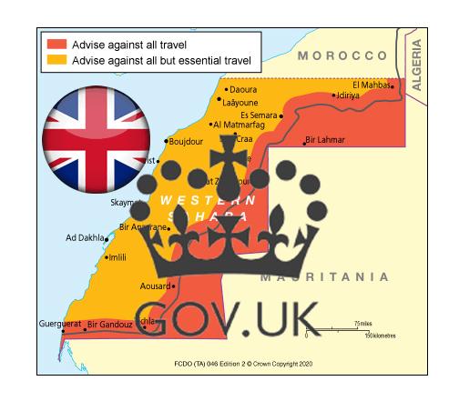 Reino Unido difunde el mapa oficial del Sáhara Occidental con sus fronteras internacionalmente reconocidas