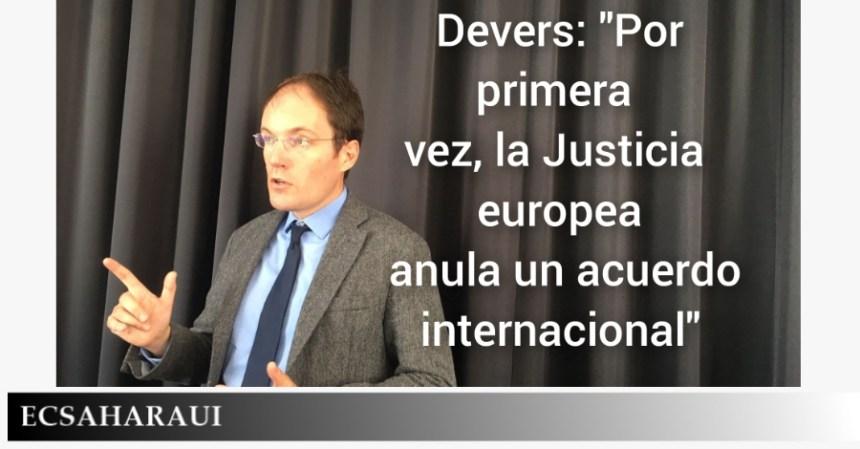 Devers: «Por primera vez, la Justicia europea anula un acuerdo internacional»