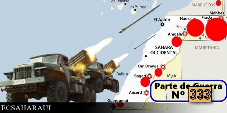 Parte de Guerra Nº 334. Guerra del Sáhara Occidental